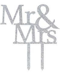 Showpo Mr & Mrs Wedding Cake Topper