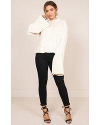 Showpo - Alicante Knit In Cream - Lyst