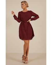 c41fee82653 Lumier Keep Control Off The Shoulder Dress in Red - Lyst