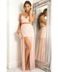 Showpo - Body Language Two Piece Set In Blush - Lyst