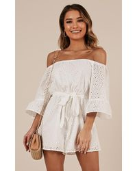 Showpo - Finding My Way Playsuit - Lyst