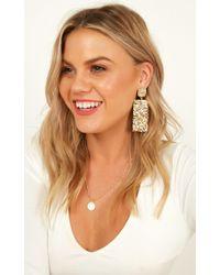 Showpo - Speaking Up Earrings - Lyst