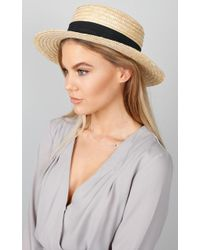 Showpo - By The Harbour Hat In Sand - Lyst