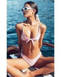 Showpo - Low Down Bikini Bottom In Blush Metallic - Lyst
