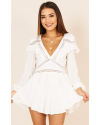Showpo - The Only One Playsuit In White - Lyst