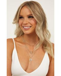 Showpo - Told You Not Necklace - Lyst