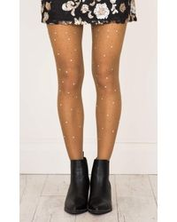 Showpo - Bling Thing Stockings In Nude - Lyst
