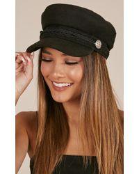 Showpo   Boss Woman Conductor Hat In Black   Lyst