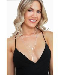 Showpo - Where Are You Now Necklace In Silver - Lyst
