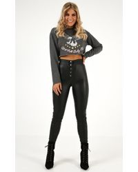 Showpo Lets Get Loud Leatherette Pants - Black