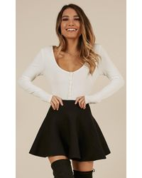 Showpo - Real Deal Skirt In Black - Lyst