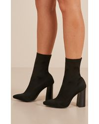 Showpo - Therapy Shoes - Saxon In Black - Lyst