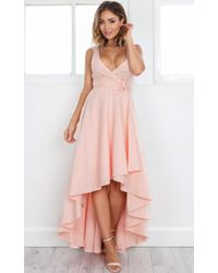 Showpo - Magic Dancer Dress In Blush - Lyst