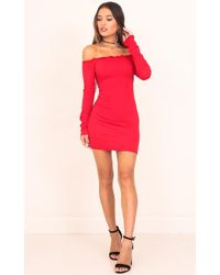 Showpo - Close Enough Dress In Red - Lyst