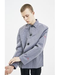 Xander Zhou | Taupe Work Jacket | Lyst