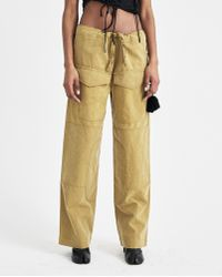 Hyein Seo - Khaki Work Trousers With Keyring - Lyst