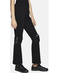 Hyein Seo - Wool Trousers With Knee Protectors - Lyst