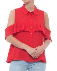 Velvet Heart - Ruffled Cold Shoulder Shirt - Lyst