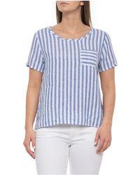 Christian Siriano - Voyage Railroad Stripe Linen T-shirt - Lyst