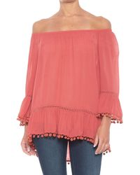 838dd7e0a3c4b Fever - Pompom Blouse - Lyst
