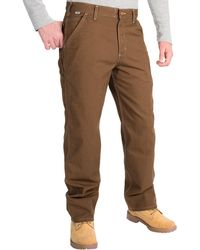 aa4759d3904f Carhartt - Flame-resistant Washed Duck Work Dungaree Pants (for Men) - Lyst
