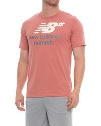 New Balance - Numeric Stacked Running T-shirt - Lyst