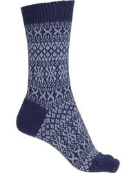 Pantherella Faith Winter Fair Isle Socks - Blue
