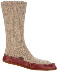 Acorn - Grey Ragg Wool Slipper Socks - Lyst