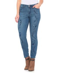 Bandolino - Lisbeth Embroidered Ankle Jeans - Lyst