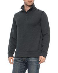 G.H.BASS - Sueded Fleece Buttoned Sweatshirt (for Men) - Lyst