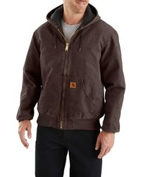 c99af2d8e9d Carhartt Big & Tall Sherpa Lined Sandstone Jean Jacket in Brown for ...