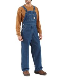 Carhartt - Washed Denim Bib Overalls - Lyst