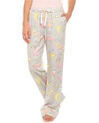 bece7ce87d Munki Munki - Fancy Drinks Flannel Pajama Pants (for Women) - Lyst