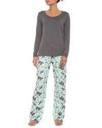Echo - Fox Trot Brushed Jersey Pajamas - Lyst