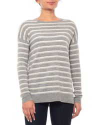 Adrienne Vittadini - Striped Cashmere Sweater (for Women) - Lyst