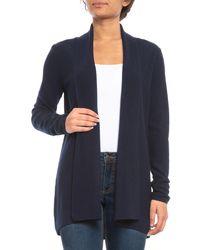 Adrienne Vittadini - Textured Flyaway Cardigan Sweater - Lyst