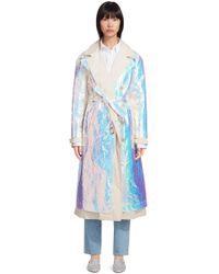 Sies Marjan - Devin Iridescent Cotton Poplin Trench Coat Size 0 - Lyst