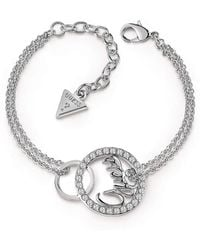 Guess - Authentics Linked Logo Bracelet - Lyst
