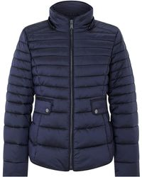 Monsoon - Monica Quilted Fur Collar Coat - Lyst