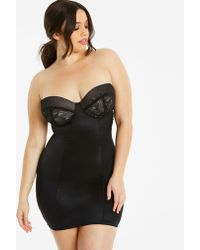 69cd98c49 Simply Be - Magisculpt Jacquard Black Underwired Full Slip Firm Control -  Lyst