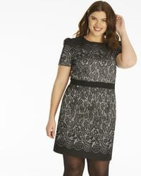 Simply Be - Oasis Lace Jacquard Shift Dress - Lyst