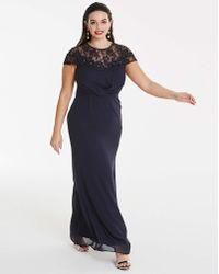 Elise Ryan - Navy Maxi Dress - Lyst