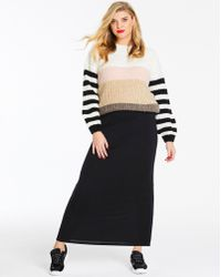 Simply Be - Stretch Jersey Maxi Tube Skirt - Lyst
