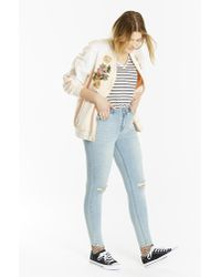 Simply Be - Chloe Distressed Skinny Jeans - Lyst