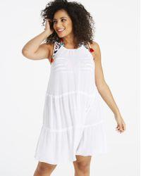 Simply Be - Simply Yours Pom Pom Tie Dress - Lyst