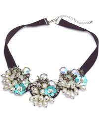 Simply Be - Floral Pearl Collar - Lyst