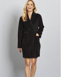 Simply Be - Fleece Wrap Robe - Lyst