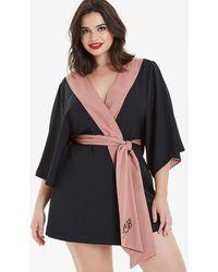 Simply Be Black/blush Kimono