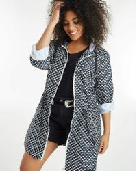 Simply Be - Print Lightweight Contrast Parka - Lyst