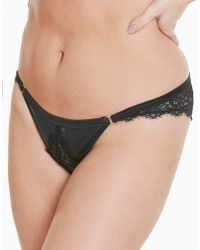 342b02adc2 Bluebella Sargasso Strappy Deep Plunge Swimsuit in Black - Lyst